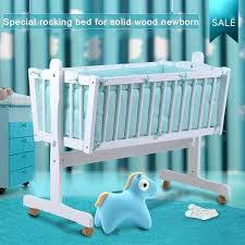 solid color crib bedding export solid wood white color solid color baby cradle with baby bedding