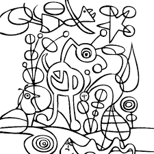 Small Picture Joan Miro the Garden in Famous Paintings Coloring Page Batch