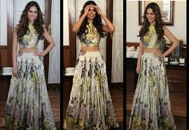Manish Malhotra Designer Long Skirts Croptop Anushka Arora