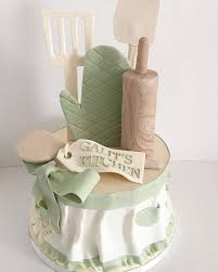 Kitchen Themed Bridal Shower Kitchen Themed Bridal Shower Cake With Fondant Apron Rolling Pin