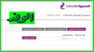 رابط الاستعلام عن فاتورة التليفون الأرضي بالرقم كيفية والسداد عبر موقع  المصرية للاتصالات بشكل الكترونى