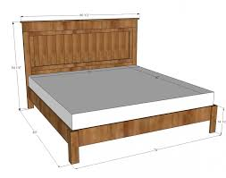 ana white king size fancy farmhouse bed diy projects intended for king size bed frame plans free