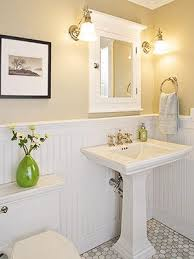 Image Gray Beadboard Is No Rather Do Paneling Too Much Variation In Honeycomb Marble Do Like The Memoirs Sink And Toilet Pinterest Clean Classic And Practical Bathroom Dreamy Home Stuff Bathroom