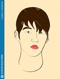 vector asian guy handsome man s face asian guy vector fashion magazine makeup image
