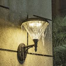 acrylic conical wall lamp fixture
