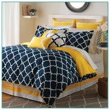 bold design blue and orange comforter set gray rugby stripe twin 6pc bed in a bag 2