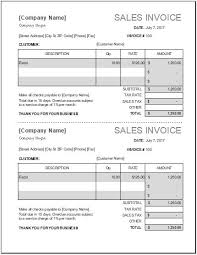 Sales Invoice Ms Excel Sales Invoice Template Word Excel Templates