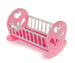 <b>Кроватка для куклы Огонек</b> качалка - Акушерство.Ru
