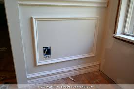 attach frame to wall with adhesive and nailsl how to install picture frame moulding wainscoting
