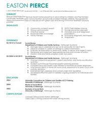 Social Services Resume Template Example Social Work Resume Social