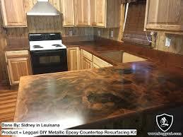 metallic countertop kit kit base brass highlights black coffee orange gold diy metallic countertop resurfacing kits
