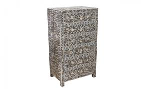 tequila kola furniture bedroom drawers and wardrobes mother of pearl inlay grey fl chest of 6 drawers tall boy