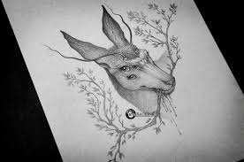 сделать татуировку олень на бедро в городе пермь по эскизу мастера