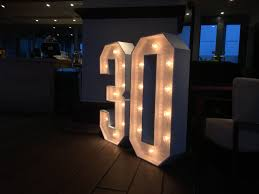 Giant Light Up Letters Giant Light Up Number 30 At The Riva Bar Kent Light Up