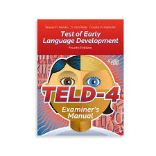Teld 4 Test Of Early Language Development Fourth Edition Wps