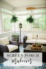 screen porch makeover with raymor flanigan the before after images along with