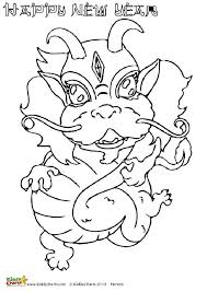 Small Picture Chinese dragons coloring pages for kids