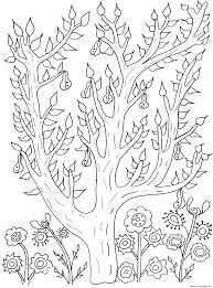 Small Picture adult cute tree with leaves and pears olivier Coloring pages Printable