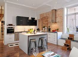 Plastic Kitchen Cabinets Kitchen Cupboards Made With Bricks Round Shine Glass Pendant Lamp