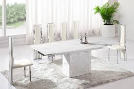 Dining Tables Beautiful White Marble Table Set The white
