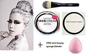 technic white face body paint cream white powder goth vire se makeup lydia