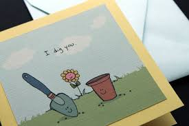 Folded Birthday Card I Dig You Folded Greeting Card With Envelope Wind Up Bird