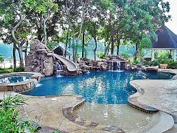Exellent Backyard Pool Designs With Slides Astonishing Cave And Water Throughout Simple Ideas
