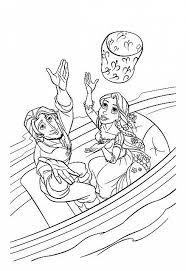 Flynn E Rapunzel Con Lanterna Disegni Da Colorare Gratis