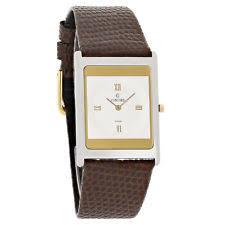 concord mens watch concord delirium mens white dial brown leather strap swiss quartz watch 0300019