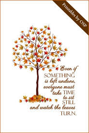 fall autumn quote with card