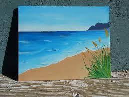 beach landscape painting original acrylic painting beach painting acrylic landscape painting beach