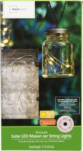 Mason Jar Twinkle Lights Mainstays Mason Jar String Lights 10 Count Walmart Com