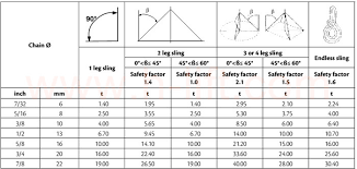 Chain Capacity Chart Grade 10 100 Chain And Chain Sling Components H Lift China