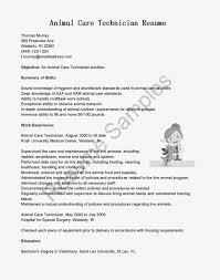 Animal Care Technician Cover Letter Sarahepps Com