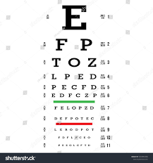 Eye Test Chart Vector Letters Chart Stock Vector Royalty