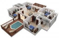Best Free Floor Plan Software With Beautiful Outdoor Pool Design Of 3d  Floor Plans Best Free