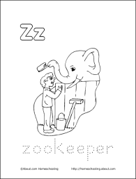 zookeeper coloring page. Exellent Coloring My Z Book Zookeeper Coloring Page On