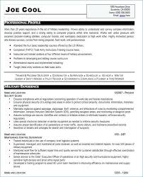 Army Resume Builder Adorable Military Veteran Resume Llun