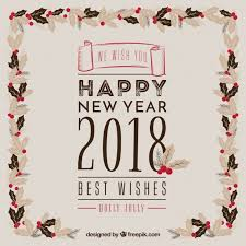 happy new year vintage background with a fl frame free vector