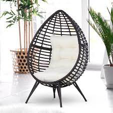 outsunny outdoor indoor wicker teardrop