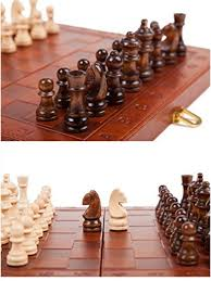 Perfect ... Agirlgle Wooden Chess Set For Adults With Folding Leather Chess Board  With Storage And Handmade Wood