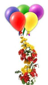 5 coloured air filled balloons 20 mix gerberas 2 tier basket rs 1499 us 25 00