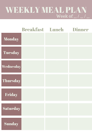 Meal Planning Sheets Weekly Meal Planning Template My Wifestyles