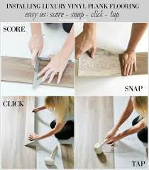 installing luxury vinyl plank flooring score snap tap