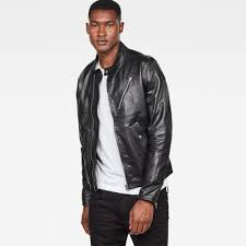 g star raw empral deconstructed leather biker jacket