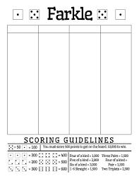 Canasta Score Sheet Template Enchanting Free Printable Farkle Score Sheet Math = Love Math Pinterest