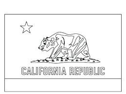 California State Flag Coloring Page Kyudojoinfo