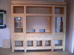 custom diy unfinished oak tv stand cabinet with glass door drawer and storage ideas