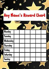 Gold Star Sticker Chart Gold Star Sticker Reward Chart