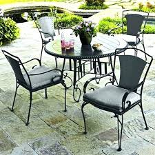 wrought iron chair cushions incredible attractive black patio table awning on with regard to furniture cus